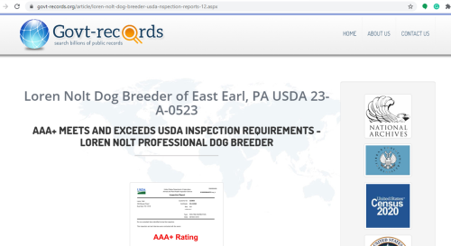 goodbreeder, loren, nolt, dog, breeder, usda-aphis, loren-nolt, dog-breeder, east, earl, pa, pennsylvania, puppy, puppies, kennels, mill, puppymill, 5-star, aca, ica, registered, show handler, pug, daschund, usda, 23-a-0523, 23a0523, licensed, inspected