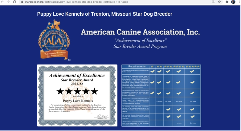 goodbreeder, puppy, love, kennels, usda, inspection, records, dog, breeder, about, information, history, puppy-love-kennels, trenton, MO, Missouri, dog-breeder, puppy, dogs, kennels, mill, puppymill, usda, 5-star, ACA, ICA, registered, show, hander, cocker, spaniel, cockapoo, 43A6314, 43-A-6314